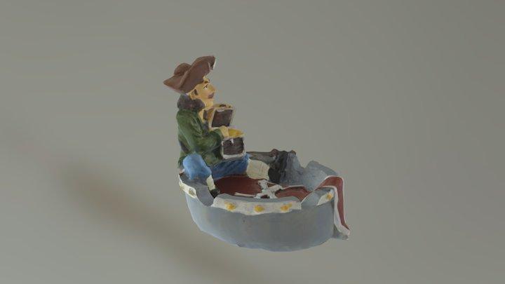 Pirates of the Caribbean ashtray 3D Model