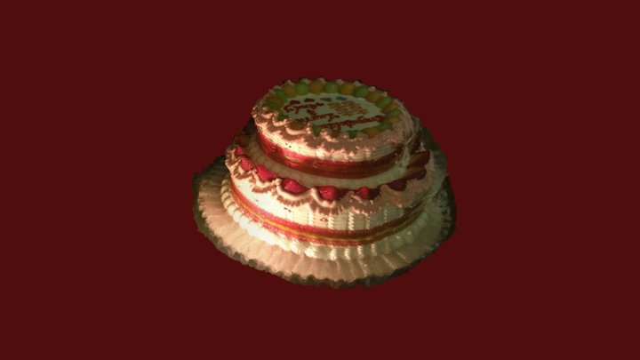 Laura and Andy's Wedding Cake 3D Model