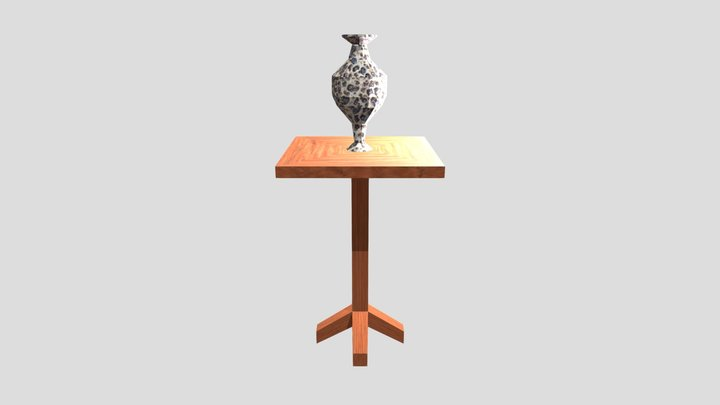 Granny Chapter Two Table And Vase 3D Model