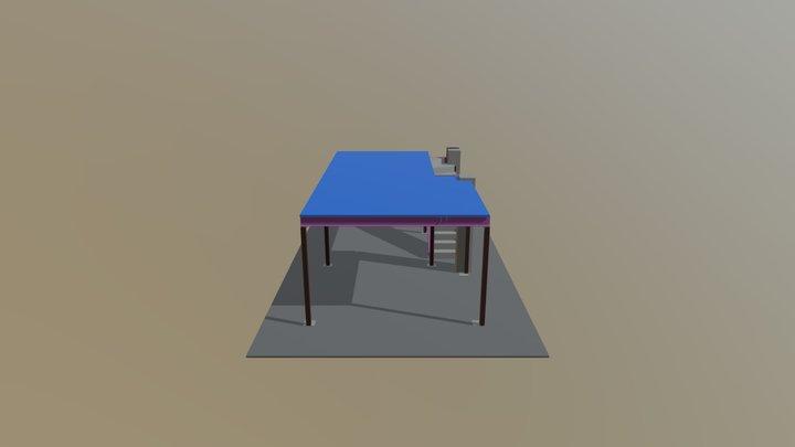 Mezanino metálico loja Mitchell 3D Model