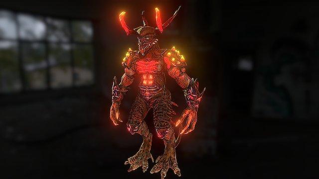 熔火人龍 3D Model