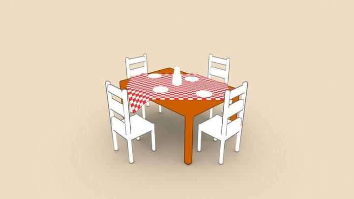 Toon Table 3D Model