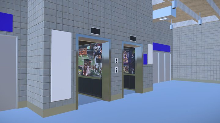 Alamodome Elevators 3D Model