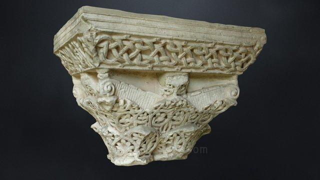 Moissac / Chapiteau à décor végétal couvrant / 3D Model