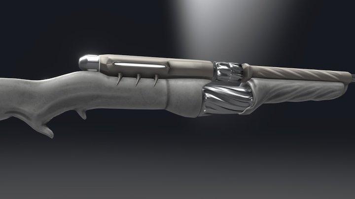 TennoGen Rifle Concept - Hellux 3D Model