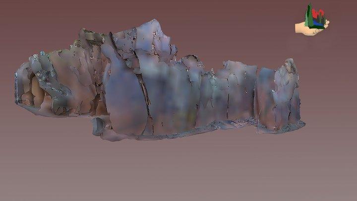 FS0629 V bar V Heritage Site Rock Art Alcove 3D Model