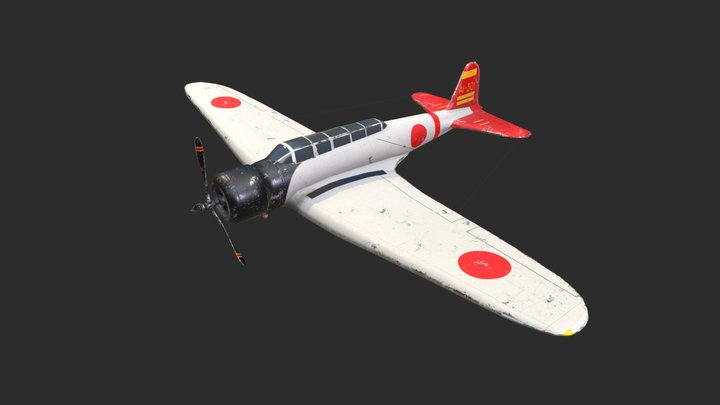 Nakajima B5N2 Kate (Pearl Harbor 1941) 3D Model
