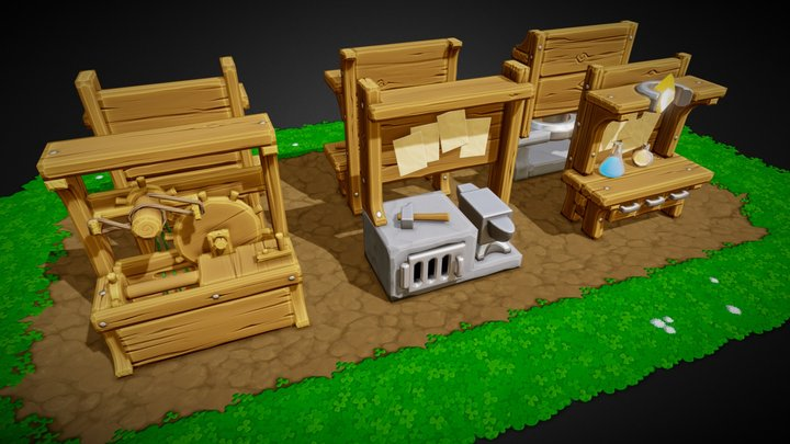 Castle Story - Crafting Stations 3D Model