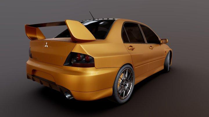 Mitsubishi Lancer Evolution IX 3D Model