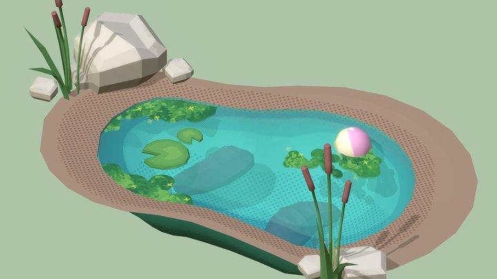Leach Pond 3D Model