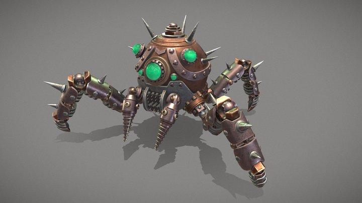 Steampunk Spider Robot 3D Model