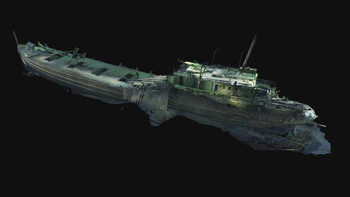 Shipwreck Russia 3D Model