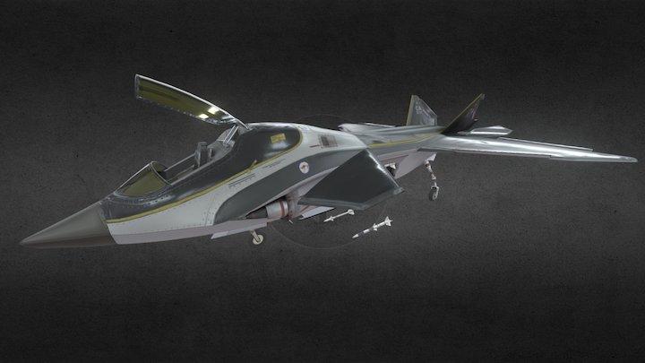RAF X12 JSF PBR 3D Model
