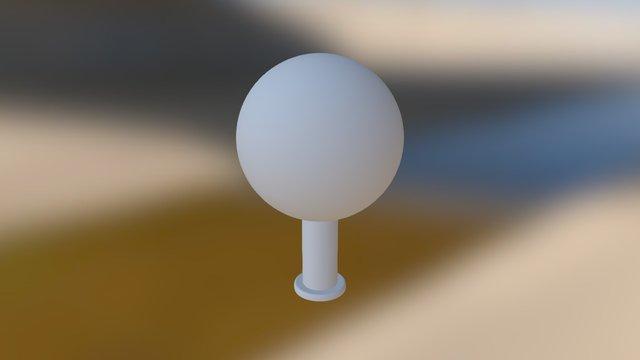"4"" Target Sphere 3D Model"