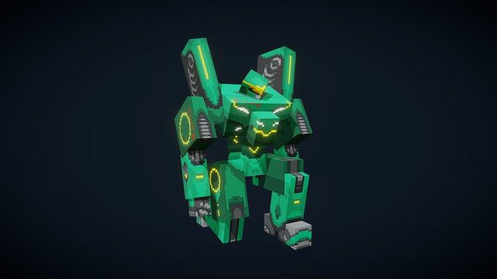 Combat Mech AlphaUWU 3D Model