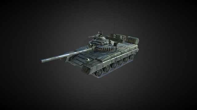 Tank T-80 3D Model