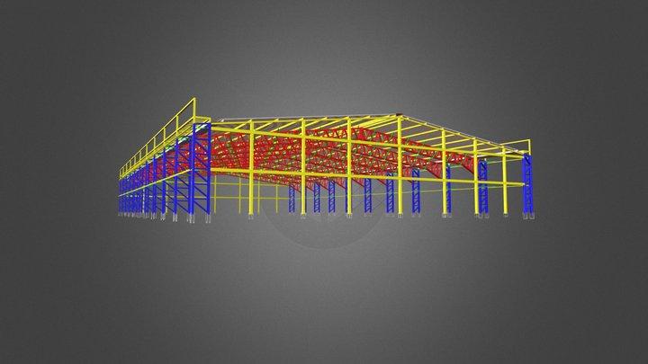 Galpão de 30x50 metros. 3D Model