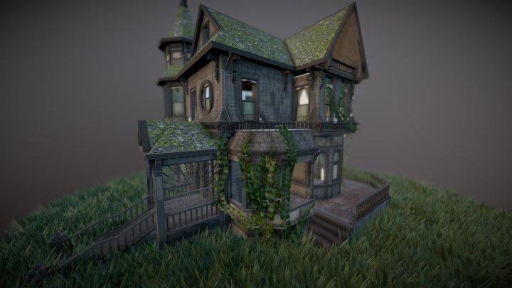 Abandoned Gothic House 3D Model