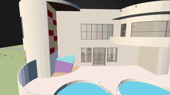 Retreat House 3D Model