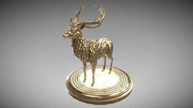 Bronze Stag 3D Model