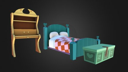 FC - Bedroom Props 3D Model