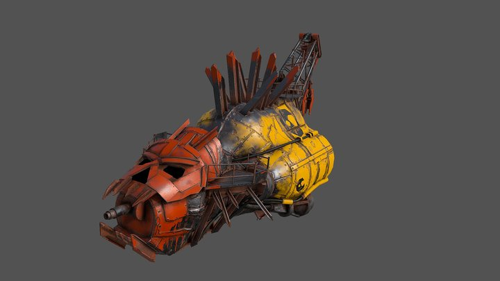Ork Minelayer 3D Model