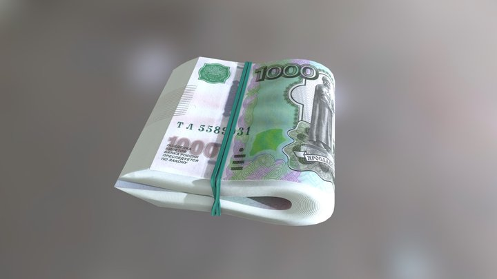 Bundle Of Rubles 3D Model
