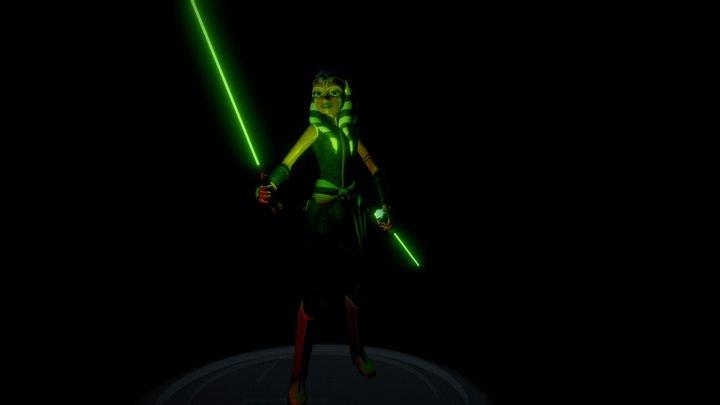 Ahsoka Tano Return season 7 Star wars clone Wars 3D Model