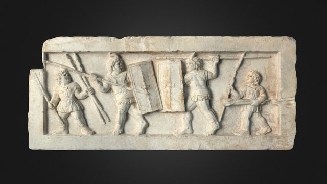 Relief with bustuarii from Aminternum 3D Model