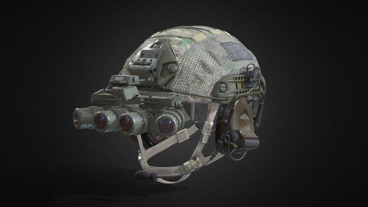 GPNVG-18 & Helmet 3D Model