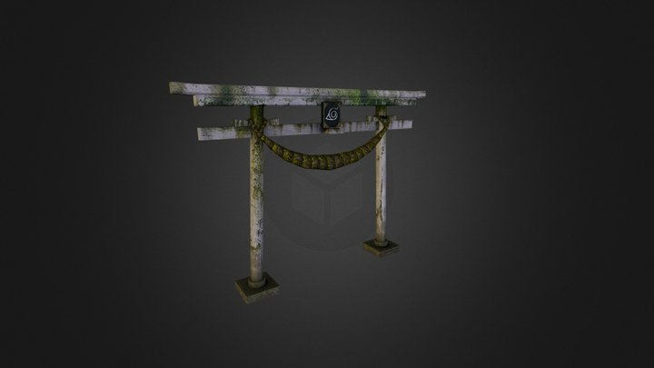 Japanese Archway 3D Model
