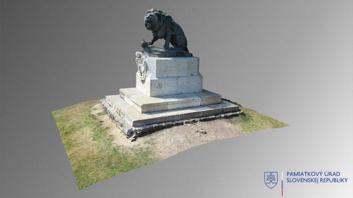 Veľké Vozokany - Pomník padlým Eszterházyovcom 3D Model