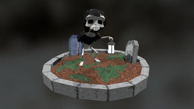 Graveyard Sentinel 3D Model