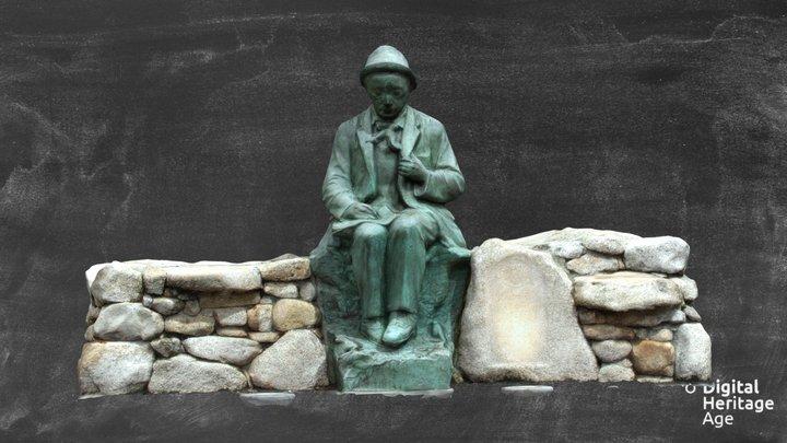 Pádraic Ó Conaire - Statue 3D Model