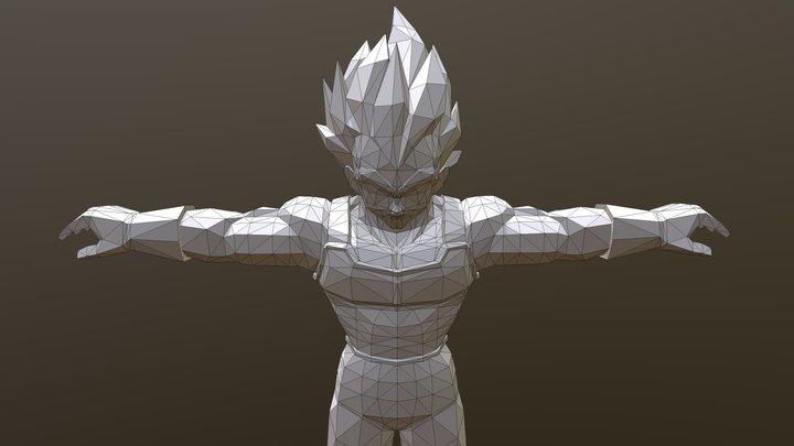 Vegeta ( Blender, Rigged and WebGL Ready ) 3D Model