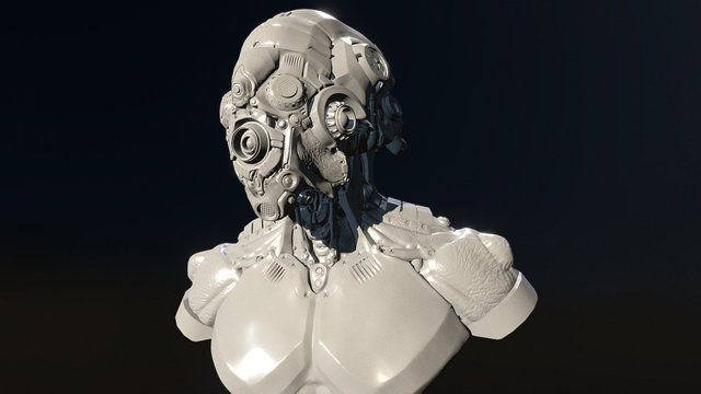 Cyborg Bust 3D Model