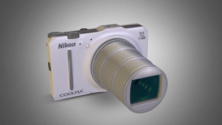 NIKON COOLPIX S9700 [WHITE EDITION]  3D Model