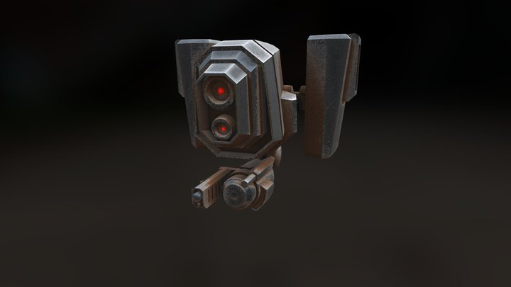 Drone Animated 3D Model