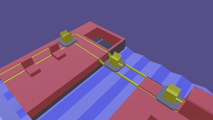 Low poly 3D interpretation of Cat Machine. 3D Model