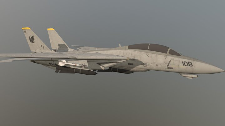 F-14 Tomcat Top Gun (Gear UP) Downloadable 3D Model