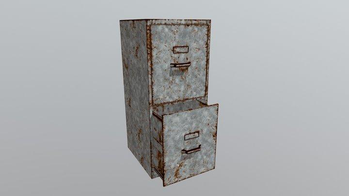 Rusty Metal Cabinett. 3D Model