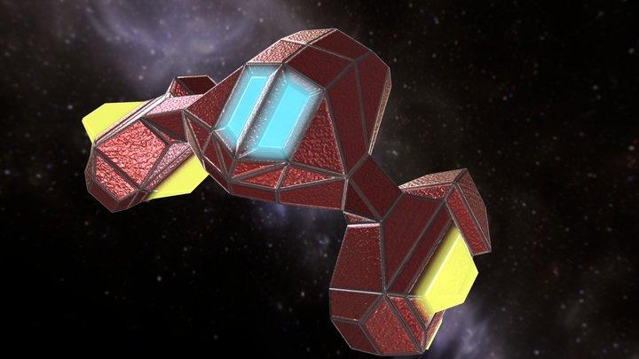Arcade SpaceShip 04 3D Model