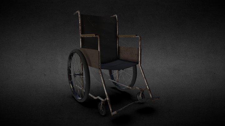 Old Rusty Wheelchair 3D Model
