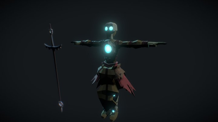 Xelor Low poly 3D Model