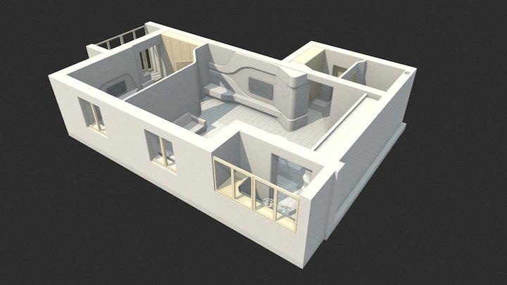 Perelanirovka_studio_room 3D Model