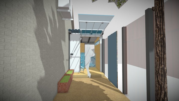 Mitchell Street Courtyard 3D Model