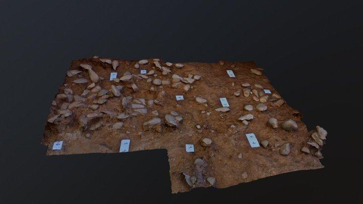The Porto Maior acheulian site: main PM4 level 3D Model