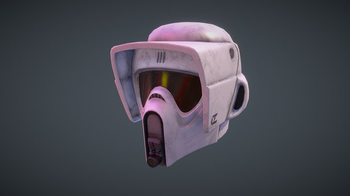 Star Wars Scout Helmet 3D Model