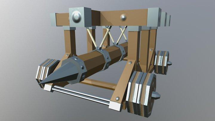 Battering Ram - Siege Equipment Assets 3D Model