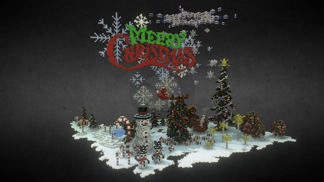 Minecraft - Christmas decorations 3D Model